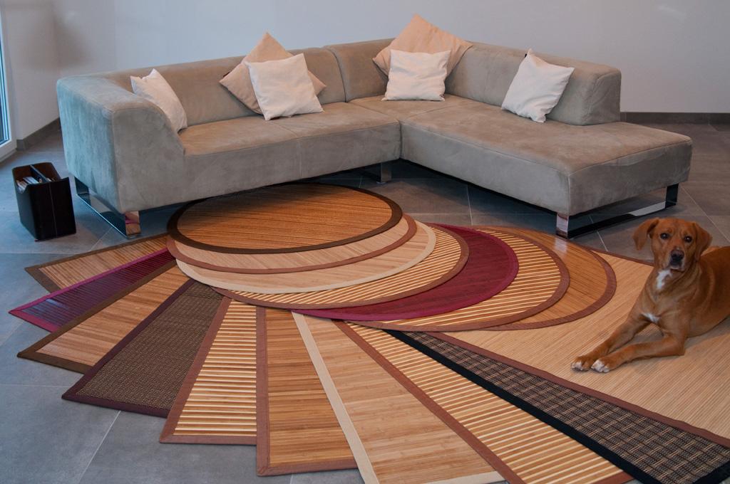 Bambusteppich Bambus Teppich Lufer Vorleger Auch Rund Wohnzimmer