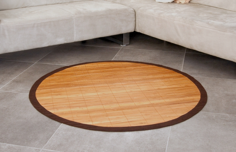 bambusteppich rund runder bambus matte teppich vorleger wohnzimmer k che kinder ebay. Black Bedroom Furniture Sets. Home Design Ideas