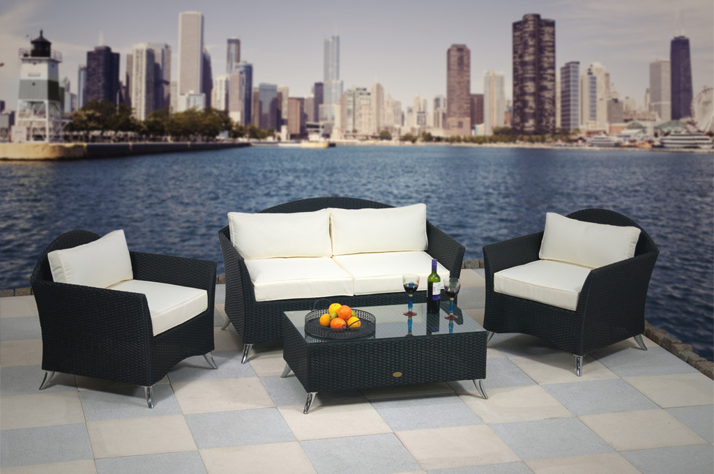 essella polyrattan lounge rattan sitzgruppe gartenm bel. Black Bedroom Furniture Sets. Home Design Ideas