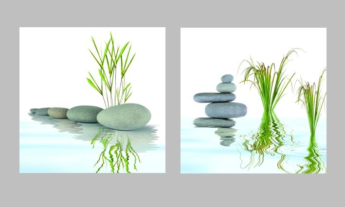 bild auf leinwand mit keilrahmen wellness wohnzimmer bilder steine set k che neu ebay. Black Bedroom Furniture Sets. Home Design Ideas