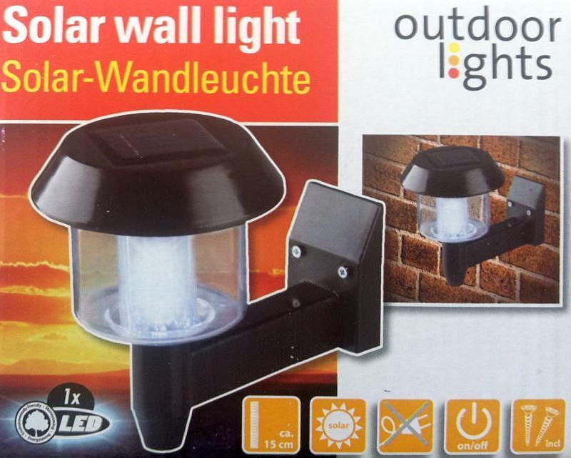 led solar wandleuchte wandlampe garten leuchte lampe schwarz kabellos neu ovp ebay. Black Bedroom Furniture Sets. Home Design Ideas
