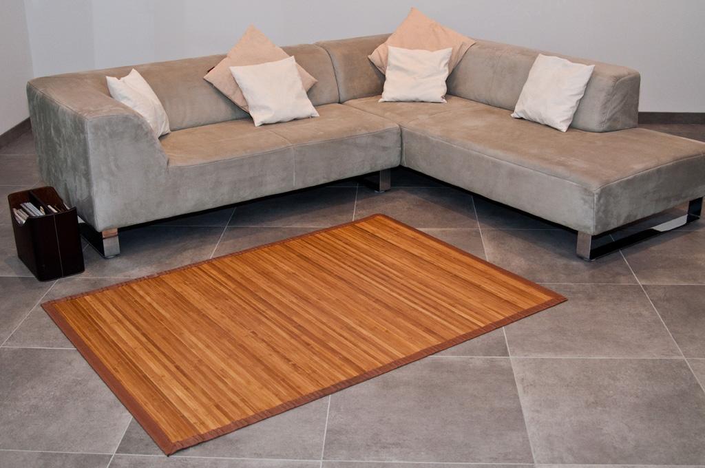 Bambusteppich Bambus Teppich Laeufer Vorleger Auch Rund Wohnzimmer